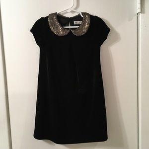 Epic Threads Black Velvet Sz 4T Dress